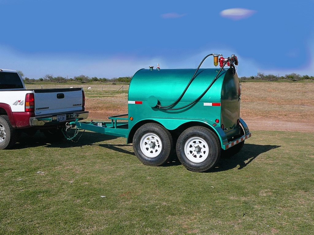 500 gallon portable fuel tank tow
