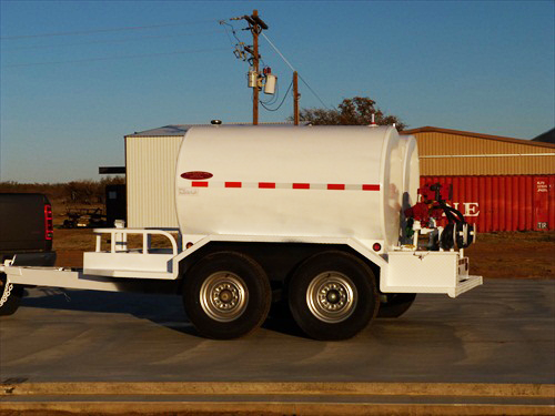 Dual 500 gallon portable fuel tank