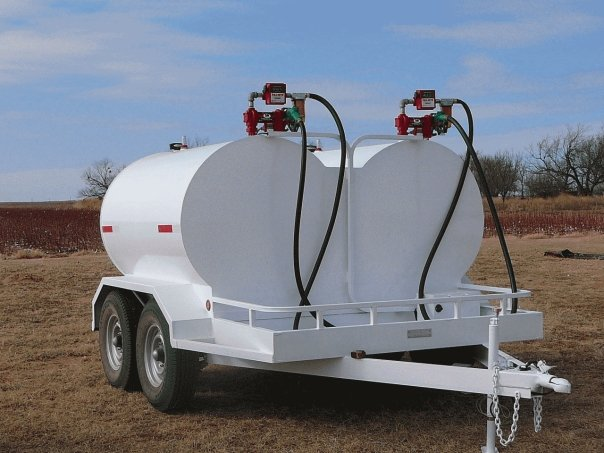 Side by Side Dual Fuel Tanks & Trailer