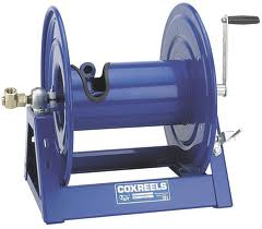 LARGE CAPACITY INDUSTRIAL HOSE REELS FOR LONG HOSE LENGTHS