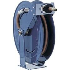 SELF-RETRACTING SPRING DRIVEN HOSE REELS