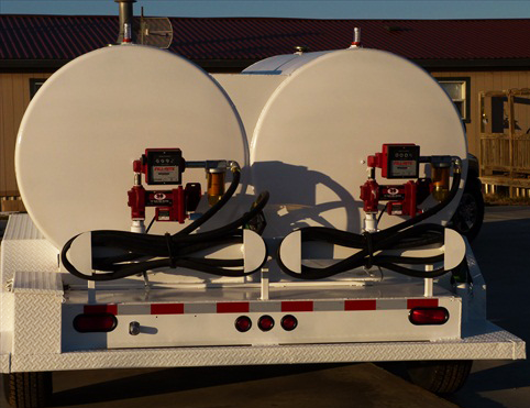 towable dual fuel tank trailer
