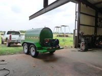 500 gallon diesel fuel tank on tow trailer
