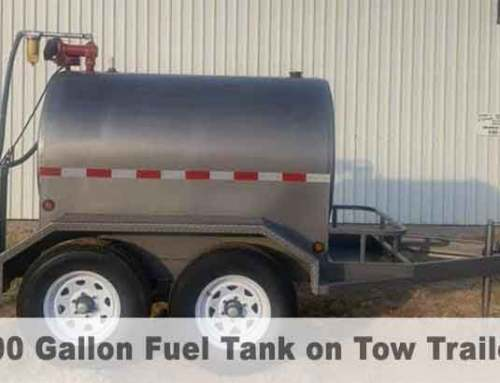 Ready to ship 500 gallon portable fuel tank and trailer